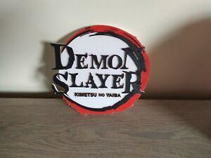 enseigne demon slayer à fixer au mur collection manga demonslayer sign display