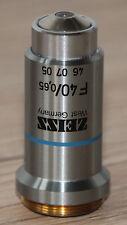 Zeiss Mikroskop Microscope Objektiv F40/0,65