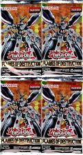 YUGIOH 4  X 1ST EDITION FLAMES OF DESTRUCTION SEALED BOOSTER PACKETS - FLOD