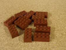 Lego City Ninjago 12 X ladrillo marrón rojizo 2 X 4 r1 Nuevo