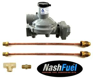988tw-15 Twin Stage Propane Regulator Two Pigtails Pol Two Tanks Dual 750k Btu