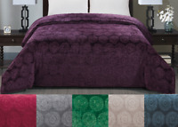 Ceasar Luxurious Embossed Flannel Blanket Extreme Warmth & All-Season Comfort