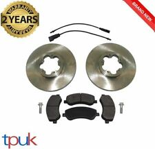 FORD TRANSIT MK7 FRONT BRAKE PADS AND 2 DISCS 2006 ON 2.2 2.4 RWD WEAR SENSORS