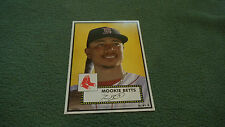 2015 Topps Limited Gold Edition 10x14 Mookie Betts 1952 Tribute Wall Art 1/1