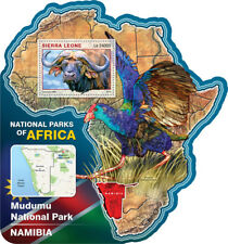 Sierra Leone 2016 MNH Mudumu National Park 1v S/S Buffalos Wild Animals Stamps