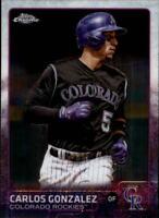 2015 Topps Chrome Baseball #11 Carlos Gonzalez Colorado Rockies