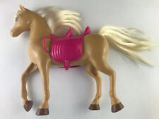 Light Tan Barbie Doll Horse With Removable Double Saddle