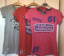 3 Superdry T Shirts. - Size S
