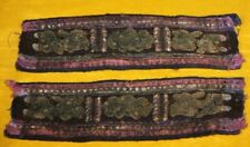 Old Exotic Chinese Minority people's hand embroidery Pair