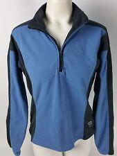Mountain Hardwear Women's Polartec Fleece Long Sleeve 1/4 Zip Pullover sz 6 Blue