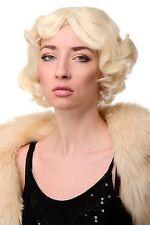 Perruque Femmes Années 20 Swing Bob ondulé Perruque Blonde env. 25 cm A4002-613