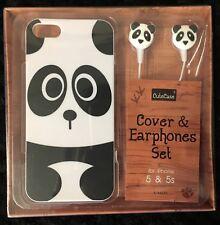iPhone 5 / 5S / SE - Cover & Earphone Set - CuteCase - PANDA design