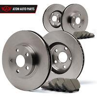 (Front + Rear) Rotors w/Ceramic Pads OE Brakes 2009 2010 Vibe Matrix 2.4 L