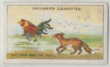The Cock and the Fox Aesop's Fable Moral Story 1920s Trade Card