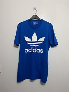 Adidas Mens Blue Small Logo T-Shirt