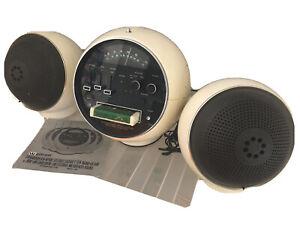 Vintage Weltron AM/FM Radio & 8 Track Tape & SPEAKERS space helmet