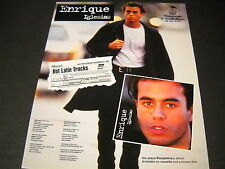 Enrique Iglesias 1995 Promo Poster Ad Hot Latin Tracks. mint condition