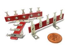 5-Lug Phenolic Lug Terminal Strips Solder New Old Stock - USA 2 Grounded  x3 pcs