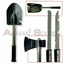 4 In 1 Survival Camping Hiking Knife Shovel Axe Saw Gear Emergency Prep Tool kit