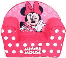 Minnie Mouse Poltroncina Divanetto Singolo ,Pouf sfoderabile in Schiuma Bambini