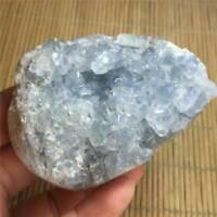 Natural  Blue Celestite Crystal Quartz Cluster Geode Specimen Home Decor UK