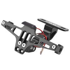 Motorcycle Adjustable CNC License Plate Holder Frame LED Bracket Mount Light x1