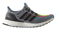 Adidas Ultra Boost Men's Running Shoes Size 8 - Grey with Rainbow Gradient