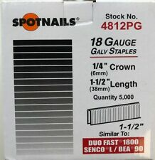 1//2 Length Sold by 12 Boxes//CASE SPOTNAILS #87008 71 OR C Series Staples
