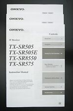 ONKYO TX-SR505E TX-SR8550 TX-SR575 Original AV-Receiver Bedienungsanleitung