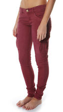 "BRAND NEW + TAG BILLABONG LADIES CARGO PANTS JEANS SIZE 8 MERLOT ""PATRIATE"" BNWT"