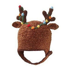San Diego Hat Brown REINDEER Beanie Cap 0-6 Months Soft  Christmas Holiday gift