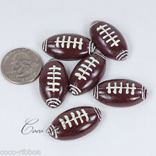 12pcs 32mm Football Ball Sport Cheerleader Flatback Resin Cabochons C35