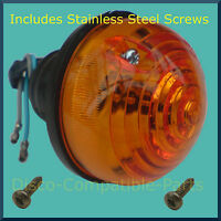 Land Rover Series 2A / 3 Rear Indicator Light Unit + Stainless Steel Screws BM