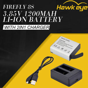 2in1 3.85V 1200mAh Battery/Battery Charger Kit For Firefly 8,8S,8SE,X,XS Camera