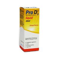 Pro D3 100IU Vitamin D3 Liquid Drops 20ml