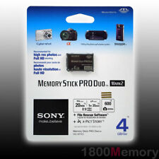 Genuine Sony 4GB Memory Stick Pro Duo Mark2 Card UK Seller - NEW