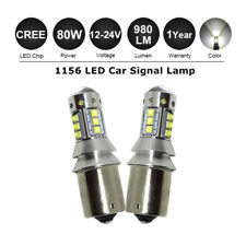 2x P21W 382 BA15s 1156 CREE LED BULBs 80W WHITE CANBUS ERROR FREE Reverse Lights
