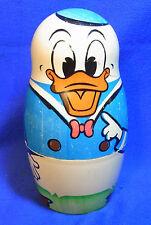 Vintage Walt Disney Matryoshka Donald Duck Family Russian nesting Doll #W*