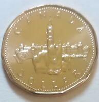 1992 Canada Parliament One Dollar 1 $ Coin. (UNC. Loonie)