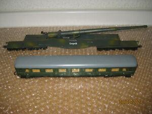 Lima H0 Eisenbahn-Geschütz Leopold  mit Schürzenwagen /T651