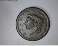 1838 Coronet Head Large Cent 1c old penny( # 44s98 )