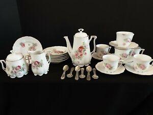 Antique Bavarian Germany Floral Child's Tea Set 29 Pieces
