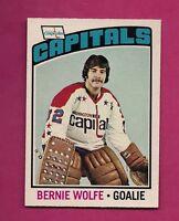 1976-77 OPC  # 227 CAPITALS BERNIE WOLFE  GOALIE ROOKIE NRMT-MT CARD (INV# 8571)