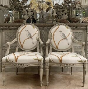 Pair Of Gorgeous French Antique Arm Chairs