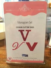 NEW Quickutz / Lifestyle Crafts 'Monogram V' (3 Die Set) Cookie Cutter Dies Die