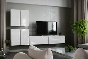 Modern Living Entertainment Wall Unit TV Stand BOXING 8 Gloss - 2 Colours
