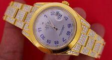 18 Carat Diamond Yellow Gold plated Rolex Datejust 2 II 41MM Watch ASAAR Video