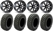 "MSA Black Kore 14"" UTV Wheels 32"" Crawler XG Tires Can-Am Maverick X3"