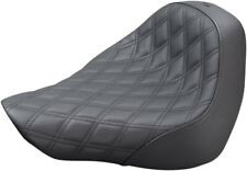 Renegade Lattice Stitched Solo Seat Black Gel For 18-20 Harley FLFB/S