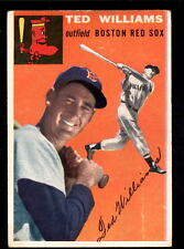 1954 TOPPS TED WILLIAMS RED SOX CARD #1